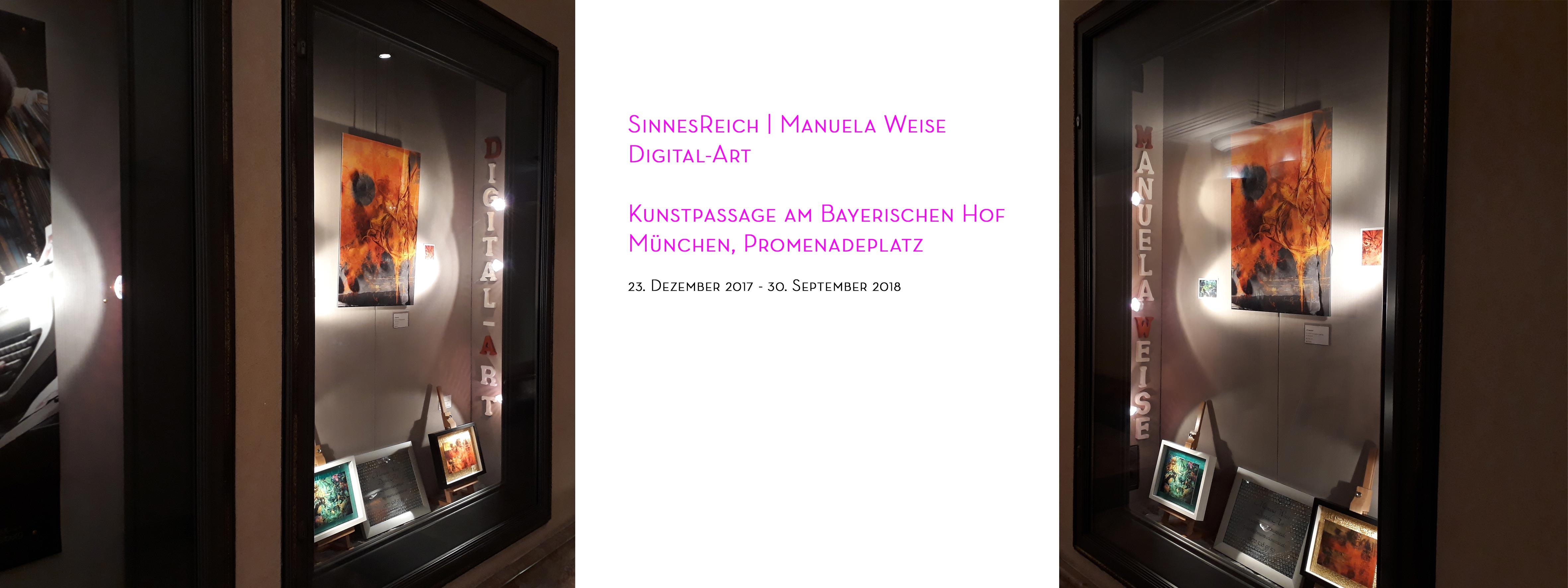 Ausstellung SinnesReich Manuela Weise - Vitrine in der Kunstpassage am Bayerischen Hof