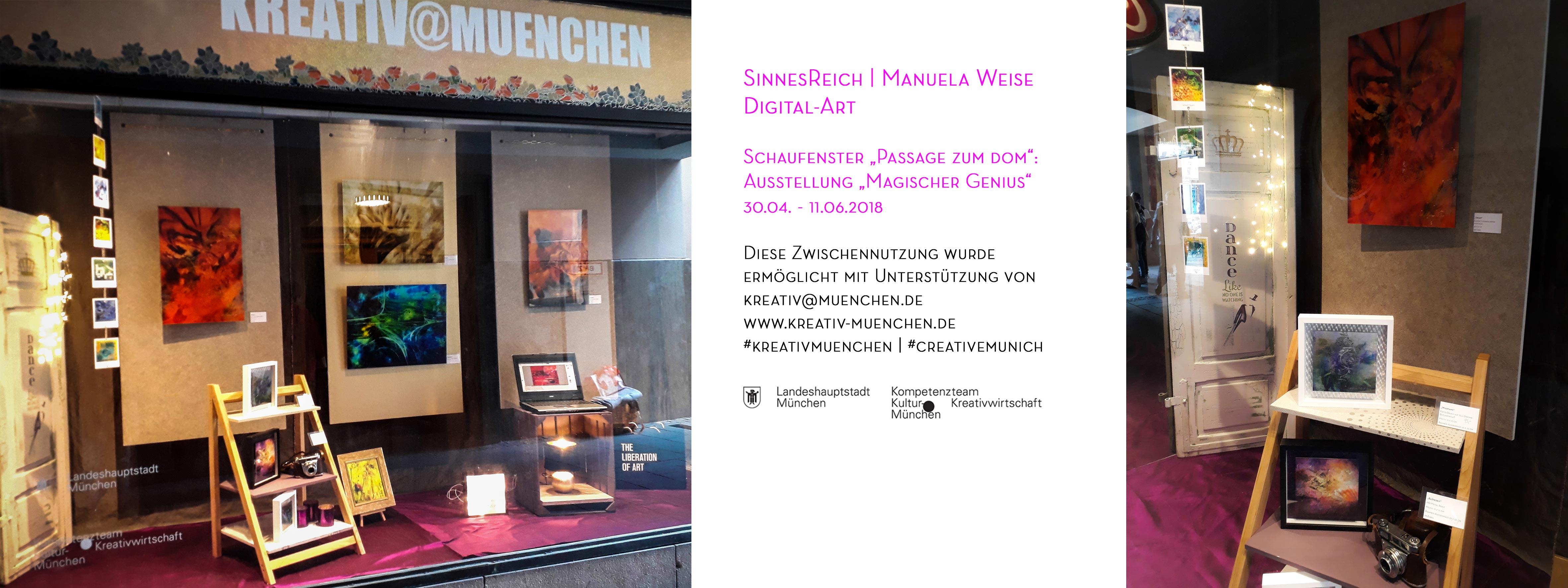 Ausstellung SinnesReich Manuela Weise - Passage zum Dom, München