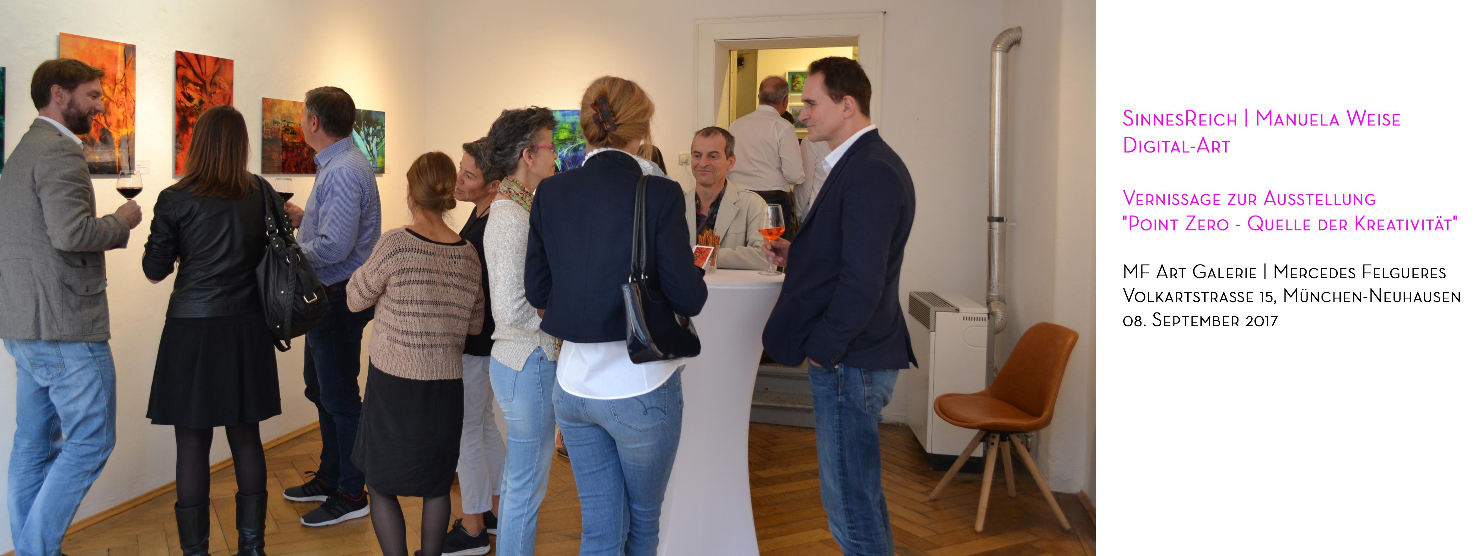 Vernissage SinnesReich Manuela Weise - MF Art Galerie, München-Neuhausen